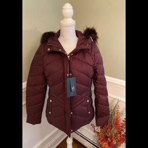NEW Marc New York Women's Faux Fur Puffer Jacket M